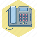 communication, contact, fax, landline, machine, phone, telephone icon