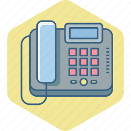 communication, contact, fax, landline, machine, phone, telephone icon