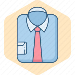 business, clothes, clothing, formal, male, man, shirt icon