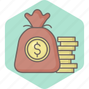 bag, currency, dollar, growth, money, mutual, payment icon