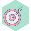 aim, bullseye, dart, dartboard, focus, goal, target icon