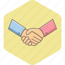 agreement, business, deal, hand, hands, handshake, partnership icon