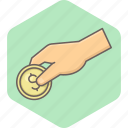 cash, cashback, coin, credit, dollar, finance, money icon
