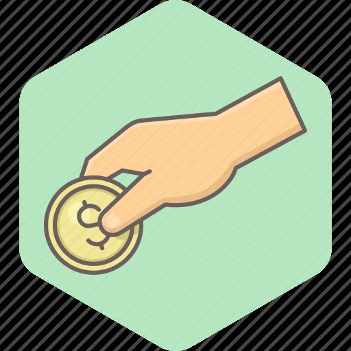cash, cashback, coin, credit, dollar, finance, money icon