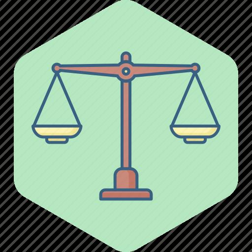 balance, cog, justice, law, scales, wheel icon