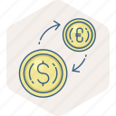 business, cash, conversion, convert, currency, finance, money icon
