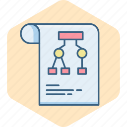 business, diagram, flow, graph, page, sheet, work icon