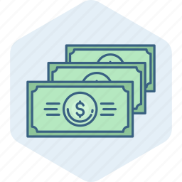 cash, currency, dollar, finance, money, notes, payment icon