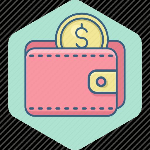cash, dollar, finance, save, saving, savings, wallet icon