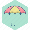 holiday, insurance, insure, insured, protection, umbrella, vacation icon