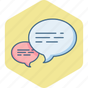 bubble, chat, communication, message, speech, talk icon