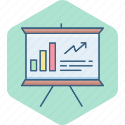business, chart, diagram, graph, office, presentation, report icon