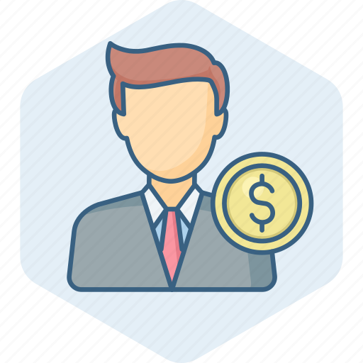account, accountant, currency, dollar, finance, person, profile icon