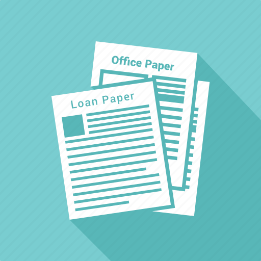 agreement, contract, document, loan paper, paper icon