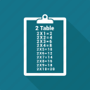 list, notepad, notes, table icon