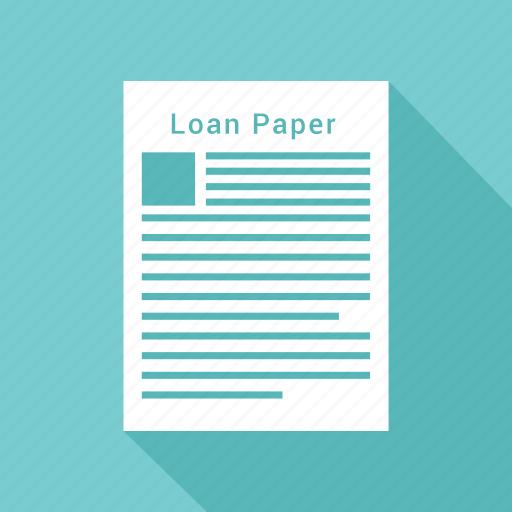 banking, loan, loan agreement, loan application, loan paper icon icon