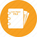 banking, loan, loan agreement, loan application icon