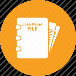 banking, loan, loan agreement, loan application icon