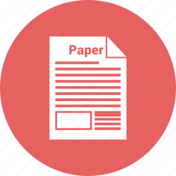 document, file, office, office paper, page, paper, paragraph icon