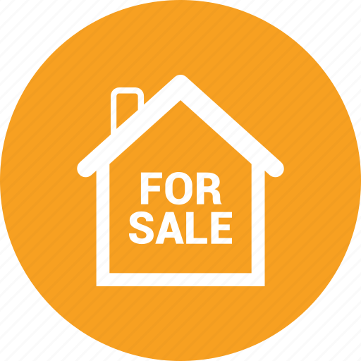 for sale, home, house, real estate icon