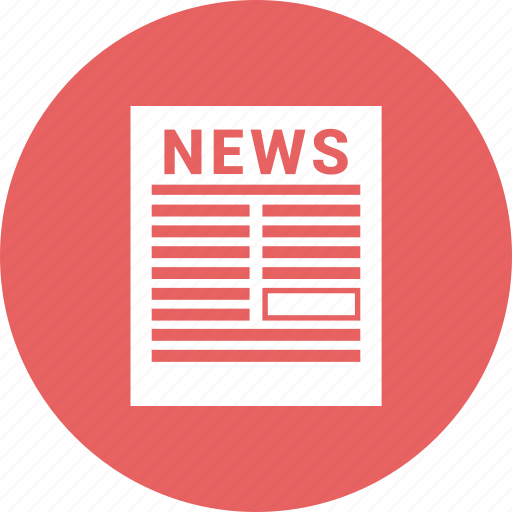 news, news paper, newsletter icon