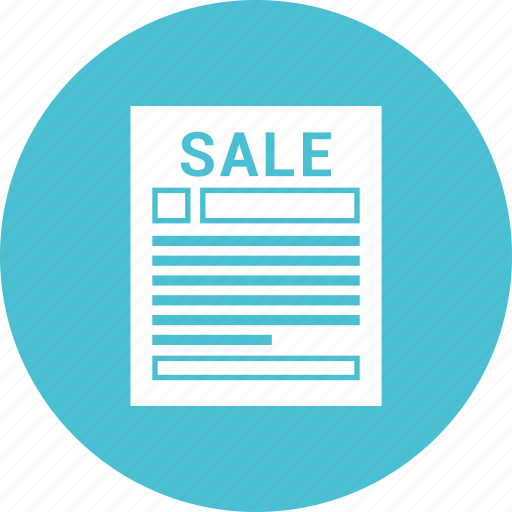 document, market, paper, report, sale report icon