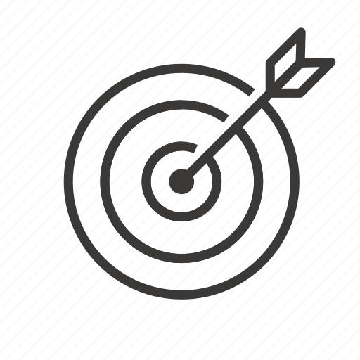 business, finance, market, marketing, target icon