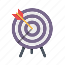 aim, ambition, arrow, goal, intention, marketing, target icon