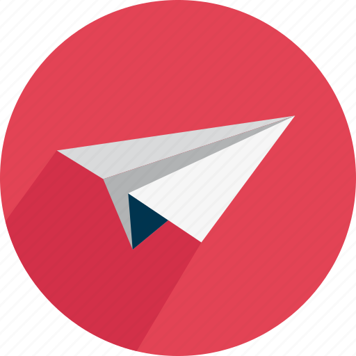 airplane, fly, paper, post, start icon