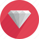 brilliant, crystal, diamond, gem, gemstone, shiny, treasure icon