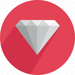 brilliant, crystal, diamond, gem, gemstone, shiny, treasure icon
