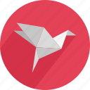 abstract, bird, decoration, folded, origami, paper, toy icon