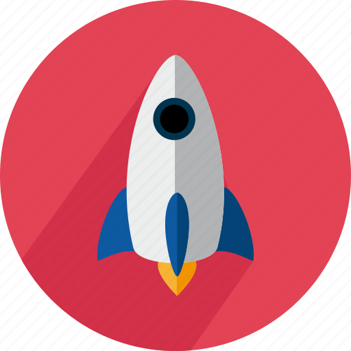 fire, fly, launch, rocket, ship, space, travel icon