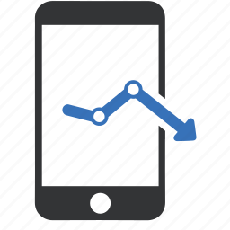 analytics, diagram, graph, mobile, phone, report, statistics icon