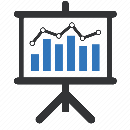 analytics, business graph, presentation, statistics icon