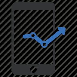 mobile analytics, monitoring, statistics icon