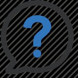 bubble, idea, question, thought icon