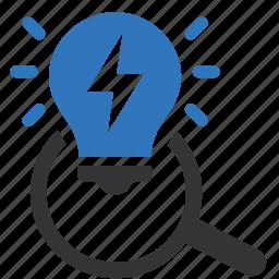 creativity, find, idea, scan, search, solution icon