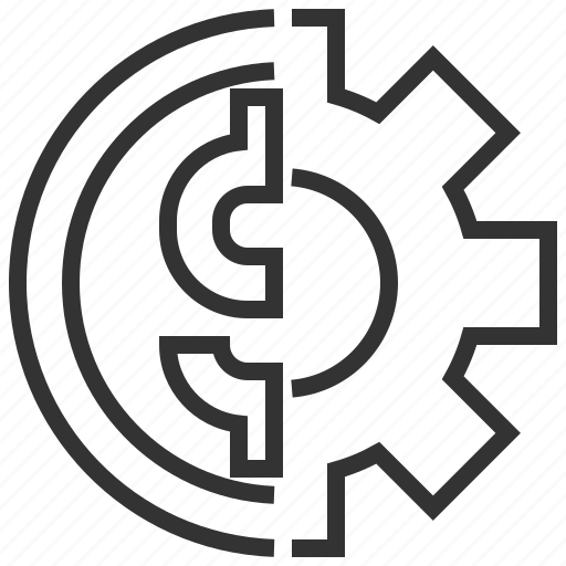 banking, coin, currency, financial, management, money icon
