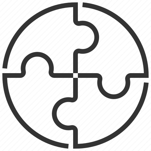 business, communication, connection, marketing, pie, solution icon