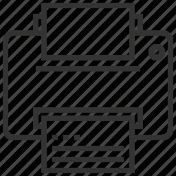 file, paper, print, printer icon