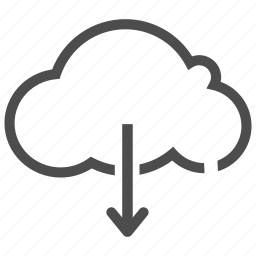 cloud, computer, device, download, office, service, update icon