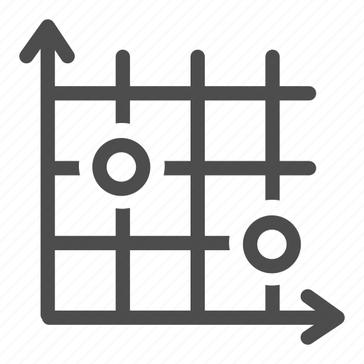 business, calculations, coordinates, graph, office, schedule, target icon