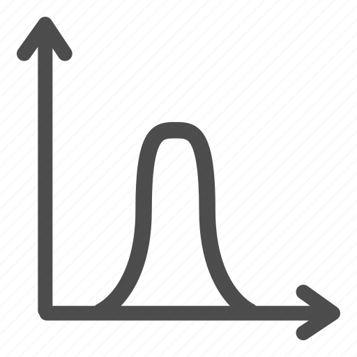 arrow, business, curve, graph, office, schedule, target icon