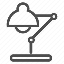 electricity, job, lamp, light, office, table, work icon