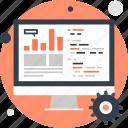 analytics, chart, computer, data, processing, seo, statistics