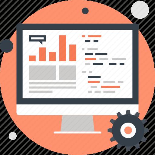 analytics, chart, computer, data, processing, seo, statistics icon