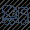 business, concrete, concrete mixer, construction, mixer, transport, vehicle icon