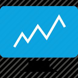 analytics, business, computer, online, pc, web icon