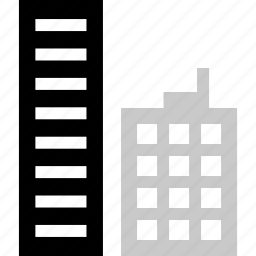 building, business, factory, online, web icon